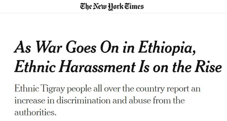 Day 39 of war on Tigray: Ethnic harassment, the tip of the iceberg