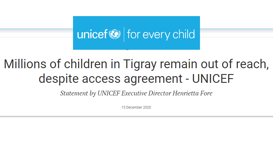 Day 42 of war on Tigray: Europe's role, UNICEF's appeal and victims' stories