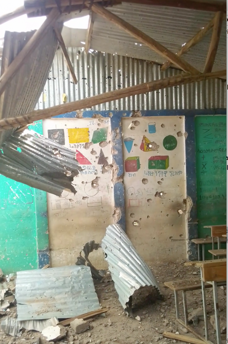 Deliberate Damage to Public Institutions in the Village of Digum due to the War on Tigray